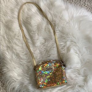 Girls Justice flip sequin versatile purse